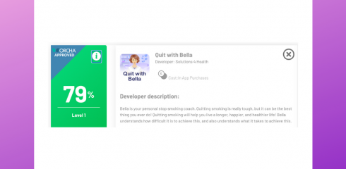 Quit with Bella – now ORCHA approved